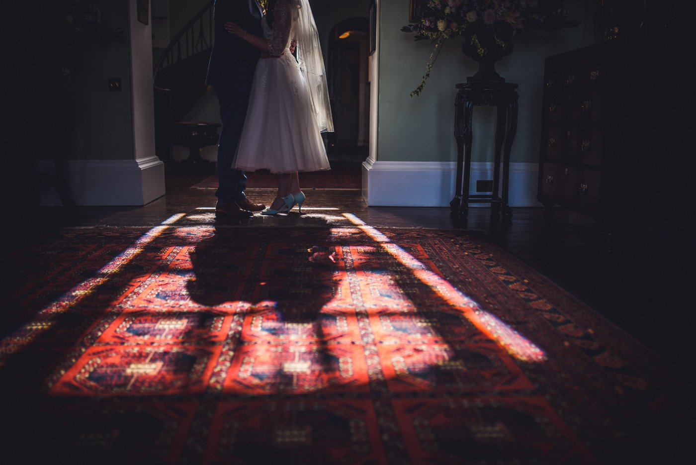 Homme House Wedding Photography couple in shadow