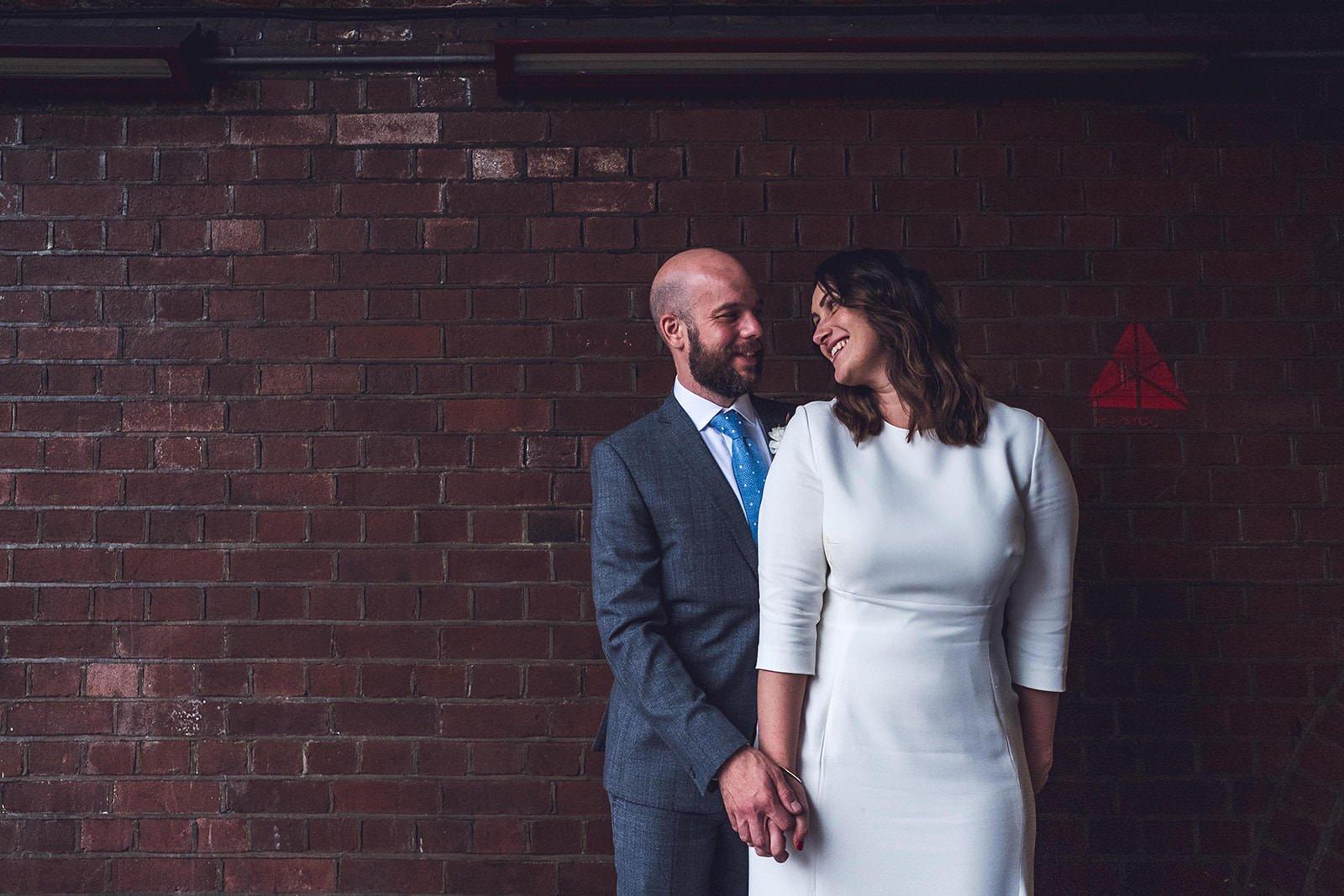 Bride and groom london elopement