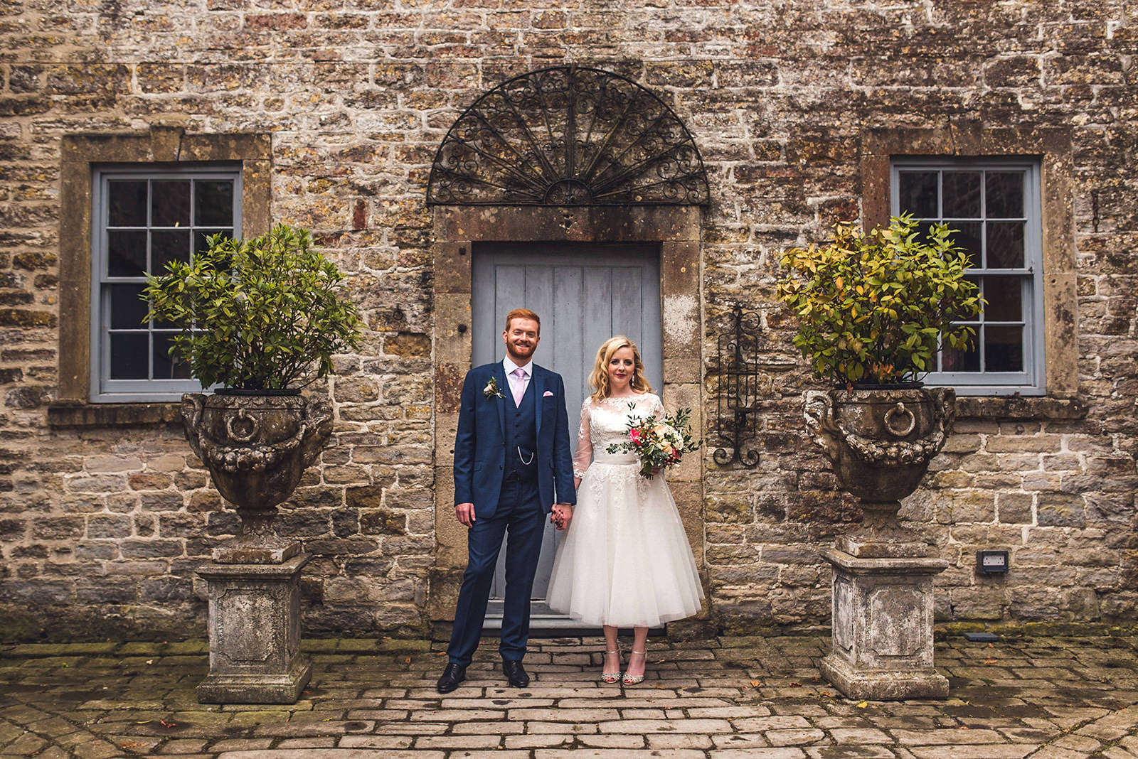 Bride and groom portrait pennard house wedding photography