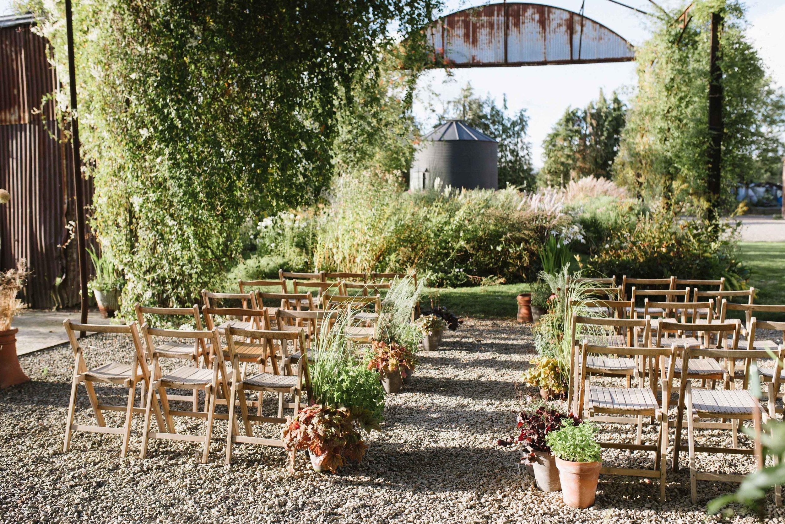Rustic stylish outdoor wedding venue field-farm-barn-and-garden