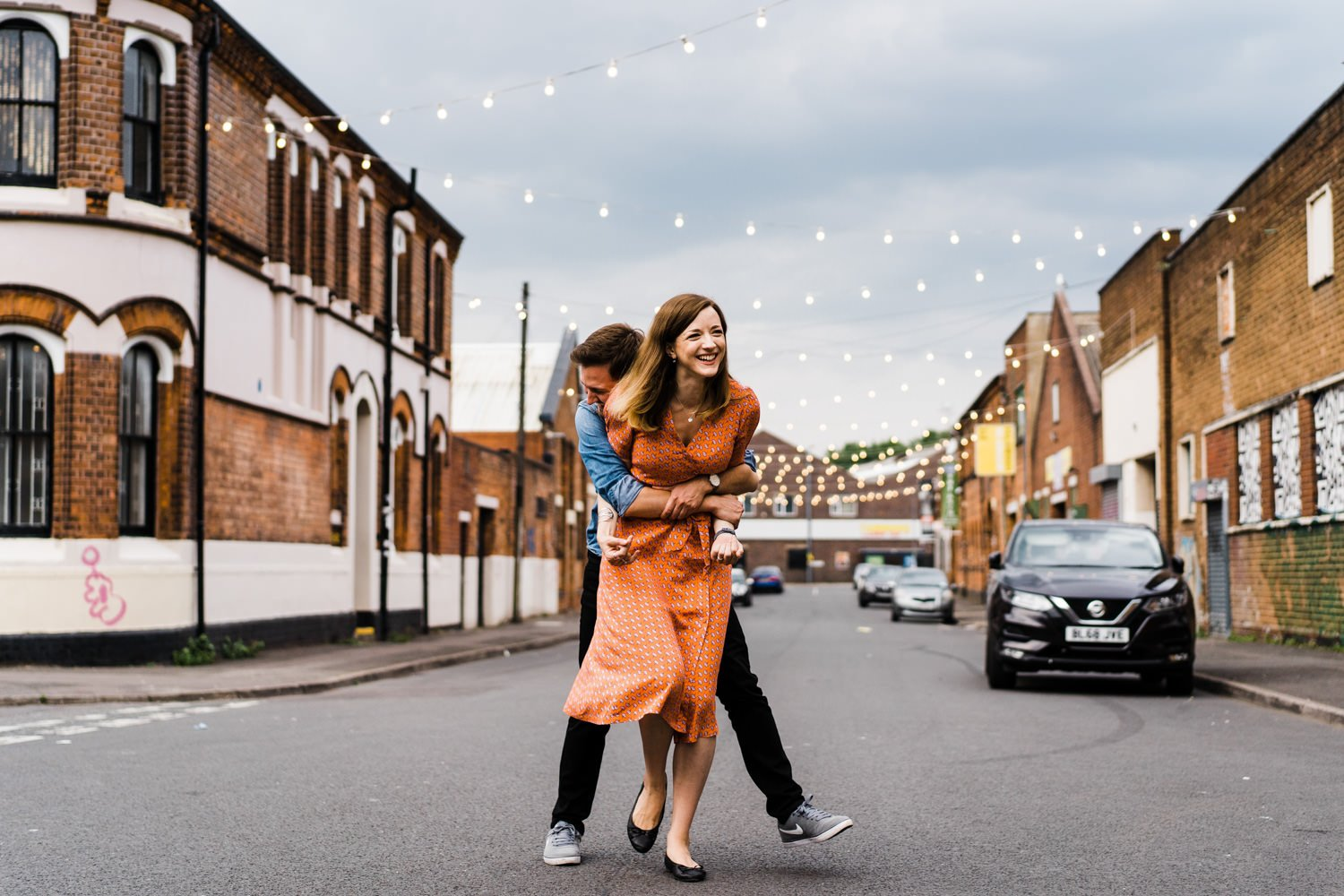 Digbeth engagement photography custard factory