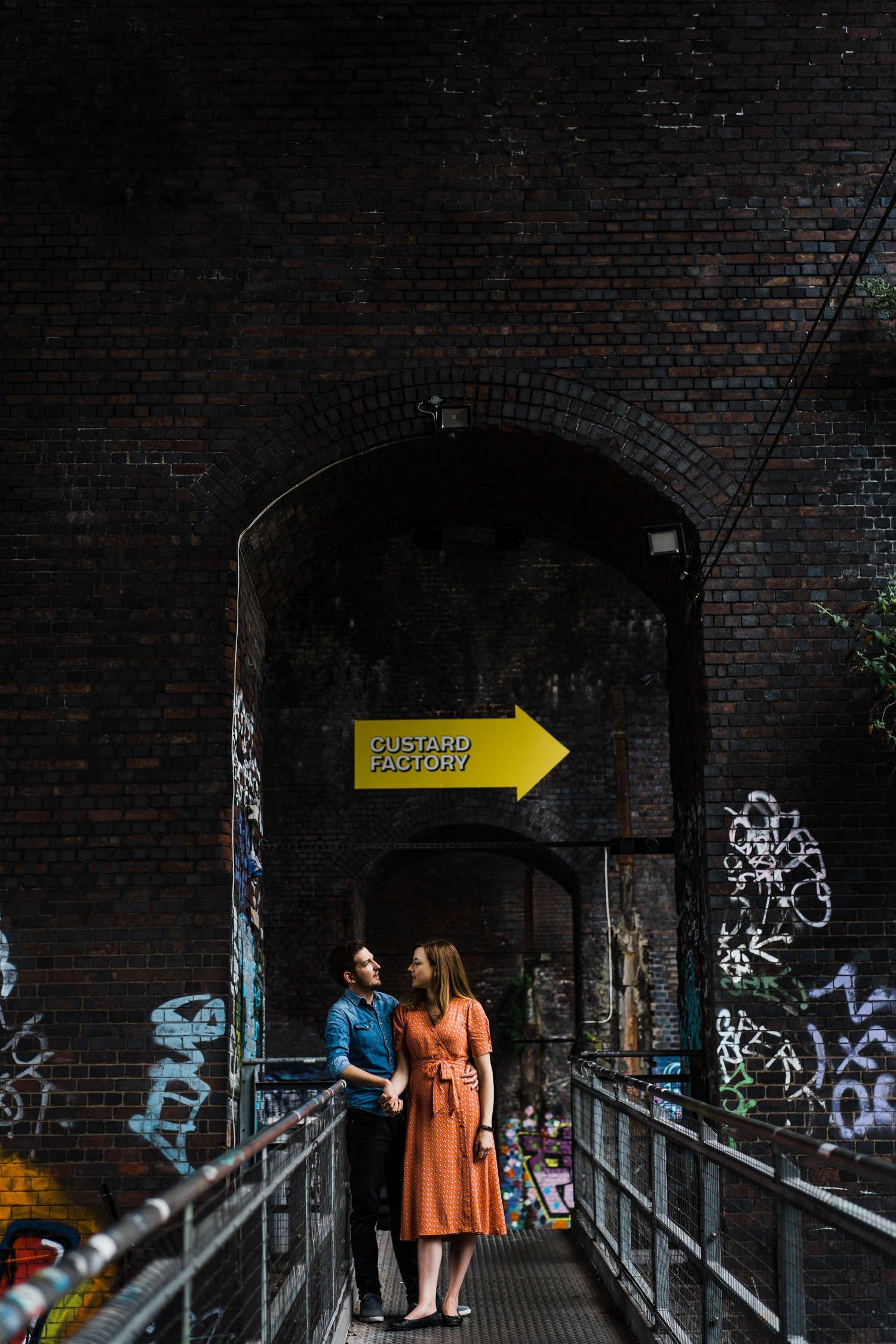 Custard factory engagement shoot
