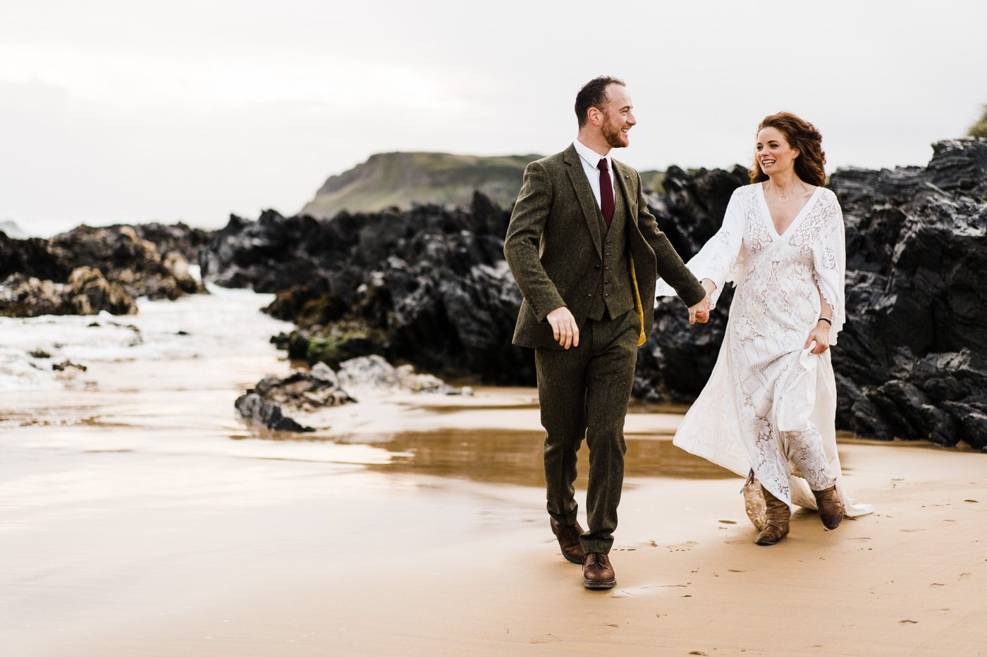 Beach bridal editorial Donegal
