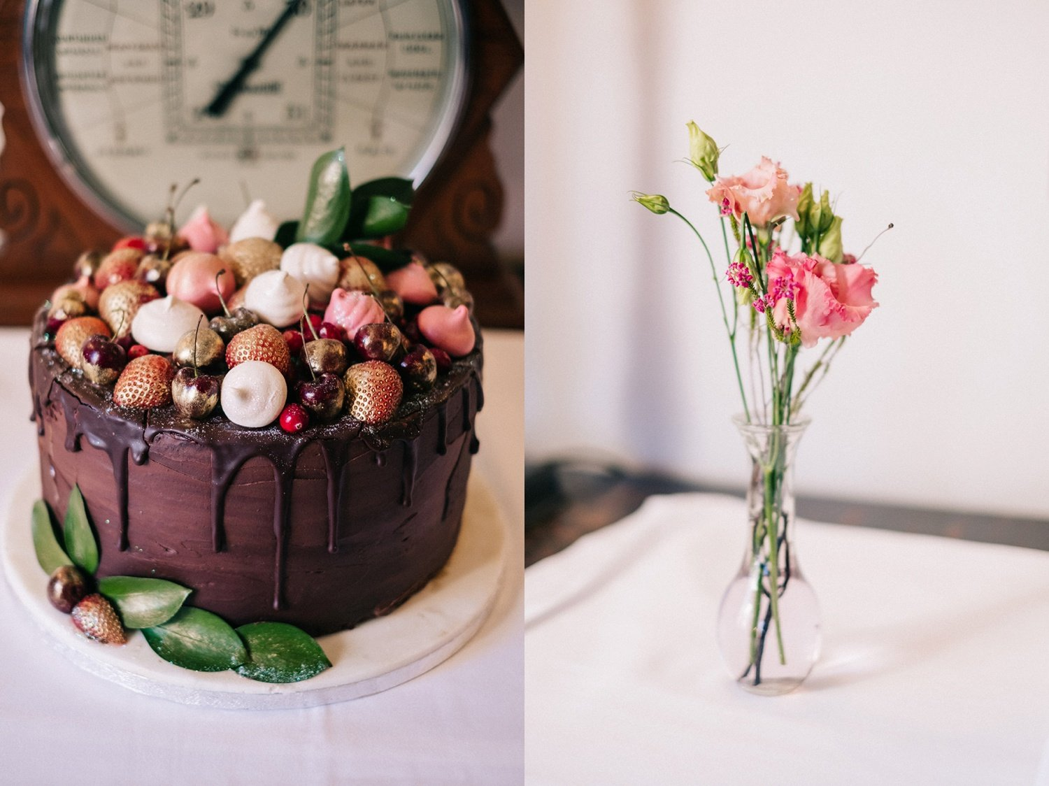 Chocolate wedding cake christmas Wolley Grange Bradford-on-Avon