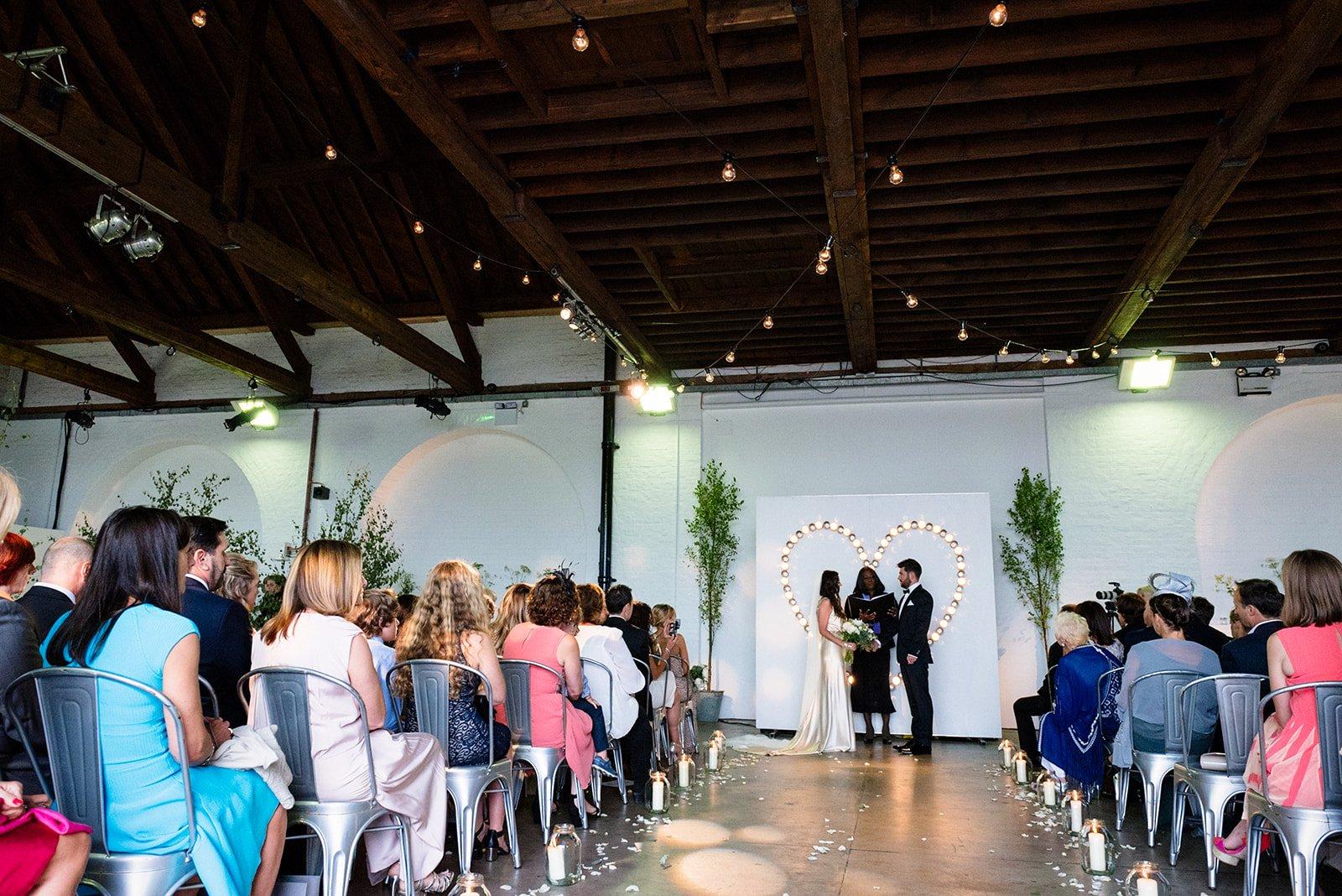 Cahinstore ceremony set up weddings at Trinity buoy wharf