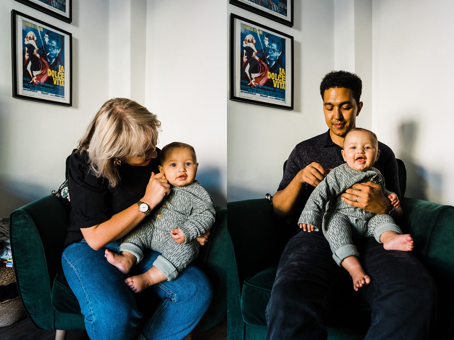 North London Family Photography dyptich