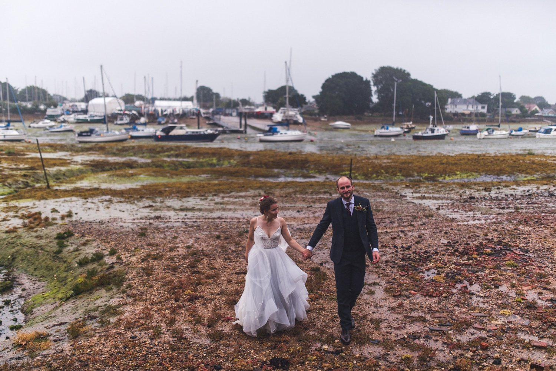 Rainy couple portrait Rainy Tournerbury Woods Estate Wedding