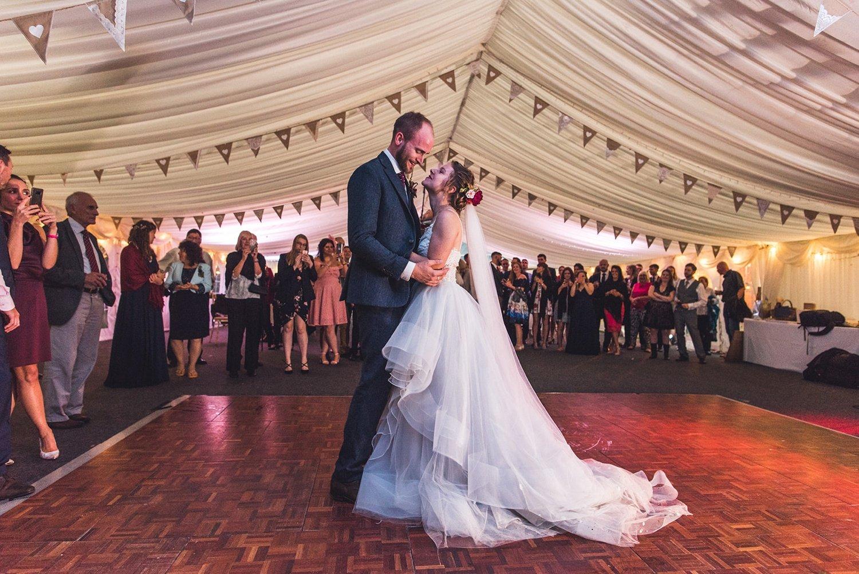 First dance at Rainy Tournerbury Woods Estate Wedding