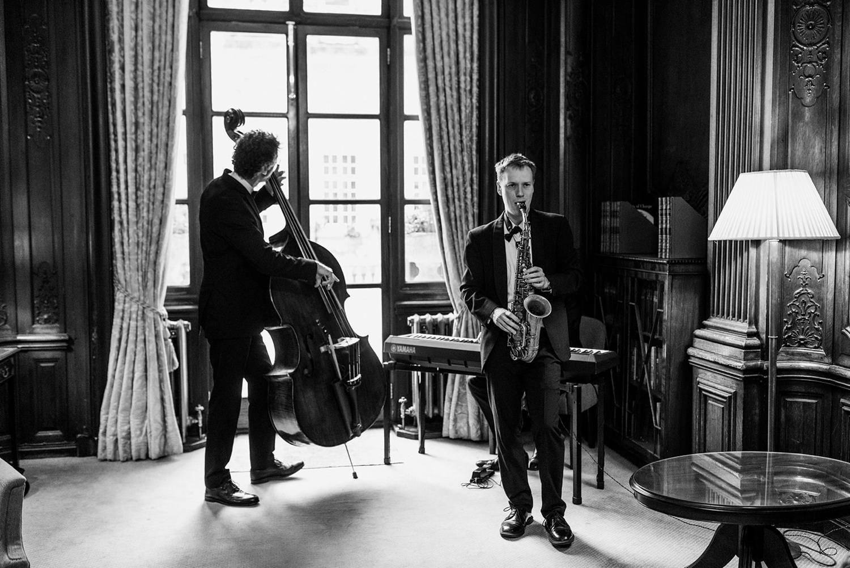 Jazz band Dartmouth House wedding photography